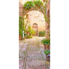 Deursticker Romantisch straatbeeld | Een deursticker is precies wat zo'n saaie deur nodig heeft! YouPri biedt deurstickers zowel mat als glanzend aan en ze zijn allemaal weerbestendig! Verkrijgbaar in verschillende afmetingen.   #deurstickers #deursticker #sticker #stickers #interieur #interieurprint #interieurdesign #foto #afbeelding #design #diy #weerbestendig #straat #reis #reizen #venetie #italie #italiaans