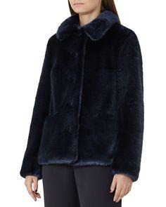 REISS Alexia Faux-Fur Coat