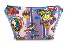 Wonder Woman Make Up Bag, Makeup Bag, Cosmetic Bag, Supergirl, Batgirl Bag, Superhero Bag, Girl Power, Phone Charger Bag, Geek Bag