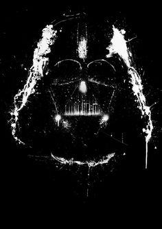 Vader by Purple Cactus, via Society6.com