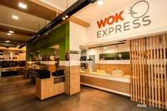 Arquitectura gastronómica en capital – Wok Express- RMB Design Solutions | Espacio Tradem Wok, Divider, Furniture, Design, Home Decor, Commercial Architecture, Stained Glass Designs, Retail Space, Spaces