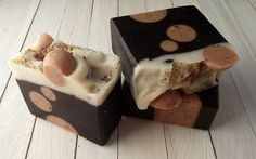 Chocolate and Roses Soap - Handmade All Natural Soap with Cocoa Butter
