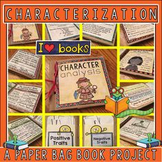 Need a fun hands project for your students' ELA block to practice Characterization? This paper bag book project hits all of the teaching points for Characterization. and can be used as a work station, in interactive notebooks, or Reading Resources, Classroom Resources, Classroom Ideas, Paper Bag Books, 4th Grade Math Worksheets, Positive Traits, Reading Anchor Charts, Teacher Created Resources, Teaching Ideas