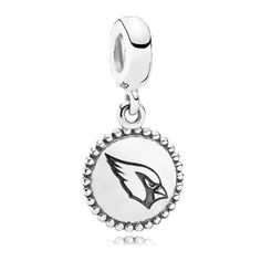 This official NFL charm is crafted with beautiful sterling silver and is a great gift for any Cardinals fans. Pandora Bracelet Charms, Pandora Rings, Pandora Jewelry, Charm Bracelets, Pandora Story, Denver Broncos Logo, Pandora Collection, Black Rings, Dangles