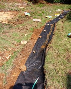 A Dry Creek Bed, for beauty and drainage; 8 tips for creating & building a dry creek bed; Rock Drainage, Backyard Drainage, Landscape Drainage, Drainage Ditch, Drainage Ideas, Drainage Solutions, Dry Riverbed Landscaping, River Rock Landscaping, Hillside Landscaping