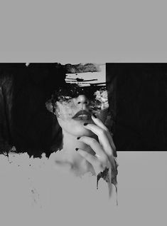 Girl (II) at works 2012 by Januz Miralles  #blackandwhite, #black, #photography, #painting, #bw, #girl, #face, #sexy