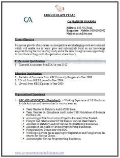 words  cas and career on pinterestprofessional curriculum vitae   resume template sample template of a chartered accountant  ca     to  years of…