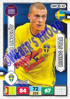 SWE02. Victor Lindelöf (Sweden) - Rising Star Panini Road to 2018 FIFA World Cup Russia Adrenalyn XL