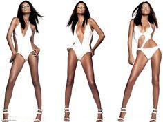 """Adriana Lima Speaks ..."" ~ wearing Christian Dior Self-Tanning Body Spray, Rosa Cha Swimsuit"