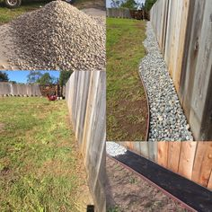 Backyard Landscaping Along Fence For Dogs Landscaping Along Fence, Backyard Fences, Backyard Projects, Backyard Landscaping, Garden Fencing, Landscaping Ideas, Dog Proof Fence, Dog Fence, Dog Yard