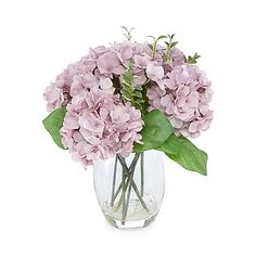 Debenhams Purple vase of artificial hydrangeas | Debenhams