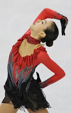Mao Asada, 2010,Mao Asada -Red Figure Skating / Ice Skating dress inspiration for Sk8 Gr8 Designs.