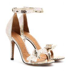 mytheresa.com - Dore python-effect metallic-leather sandals - high heel - sandals - shoes - Luxury Fashion for Women / Designer clothing, sh...