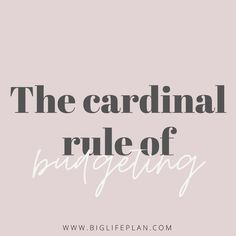 💰 B U D G E T I N G  T I P 💰 • The number one, most important, cardinal rule of budgeting is... live below your means. You need to spend less than you make. That's it. Even if you HATE budgeting, if you live by this rule you will mostly be ok. • #moneymanagement #moneygoals #moneygoals2020 #budget #budgeting #spending #spendingplan #saving #savemoney #personalfinance #money #moneycoach #debtfree #debtfreegoals #financialfreedom #financialdomination #financialindependence #moneyadvice… Living Below Your Means, Debt Free, Money Management, Personal Finance, Saving Money, Budgeting, Hate, Number, How To Plan