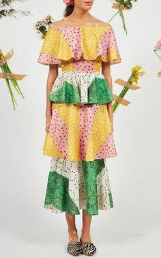 Off Shoulder Tiered Dress by Tata Naka
