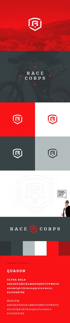 Race Corps Identity by Alex Rinker