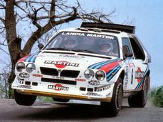 And the other queen of rallies, the Lancia Delta S4