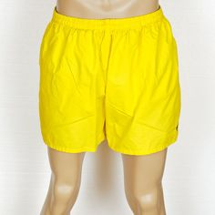 XXL Vtg Polo RALPH LAUREN Sport Bright Yellow Navy Pony Mens Shorts Swim  Trunks