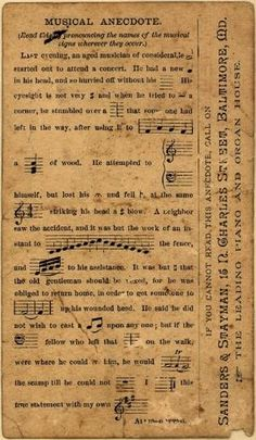 **FREE ViNTaGE DiGiTaL STaMPS**: Vintage Printable - Music Ephemera by SAburns