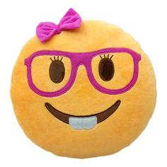 Funny Cute emoji pillow plush pillow coussin cojines emoji gato Cushion emoticonos smiley Pillows Stuffed Plush almofada U6621