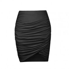 WRAP FRONT JERSEY SKIRT