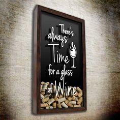 Quadro p/ Rolhas - Time for Wine 37x52cm