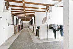 Inside the horse barn