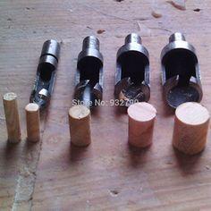 """4pcs Plug Cutter Drill Bit Set Power Tools 1/4"""" 3/8"""" 1/2"""" 5/8"""" Carpentry Woodworking Wood Plug Cutter Cutting Tool Drill Bit Set"""