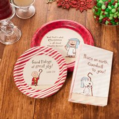 Peanuts Christmas - Good Tidings - Party Set for 8 $8.99