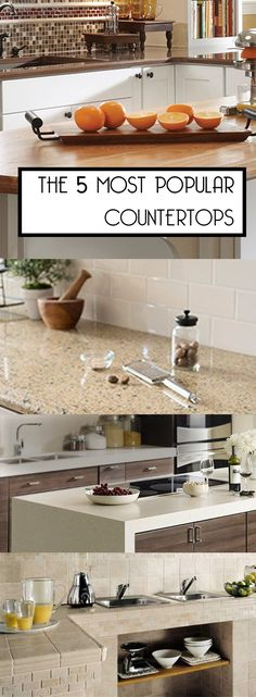 The 5 Most Popular Countertops