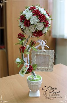 Mother's Day Diy, Centre Pieces, Topiary, Beautiful World, Diy Clothes, Floral Design, Display, Long Hair Styles, Table Decorations