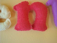 Felt Letters for Clementine's Room | Made By Rae