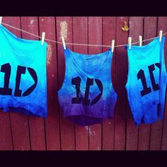 One Direction Crop Tops | avanireddy:So ready for the one direction concert with these homemade ...