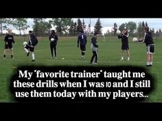 Football Drills & Soccer Drills To Improve Ball Control & Soccer Skills Soccer drills and training teach how to score more goals in soccer and can be translated into futsal drills or football drills that will teach players how to… Soccer Skills For Kids, Soccer Practice, Kids Soccer, Soccer Footwork Drills, Football Drills, Soccer Player Workout, Soccer Workouts, Soccer Gifs, Soccer Memes