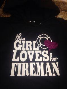 This girl loves her fireman sparkle glitter shirt a7b5a3ce1
