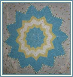 Sunshine Round Ripple Baby Afghan Pattern | Gather