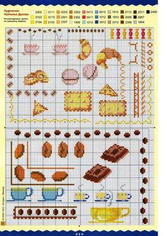 cuisine - kitchen - glace - point de croix - cross stitch - blog