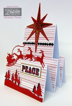 Crafter's Companion Classique Christmas Collection Star of wonder die Santa`s sleigh die Scenic pines die Christmas sentimentals