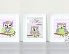 OWL NURSERY ART Owl Nursery Decor Woodland by KalasKorner