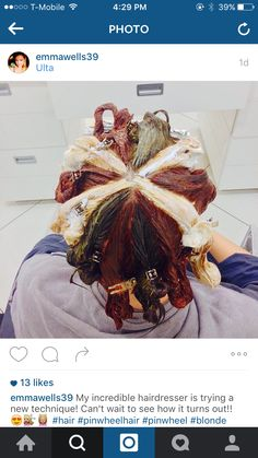 Pinwheel hair color