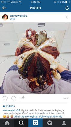 Pinwheel hair color