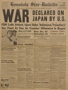 historic newspaper headlines | IMAGE] World War II Newspaper Headlines