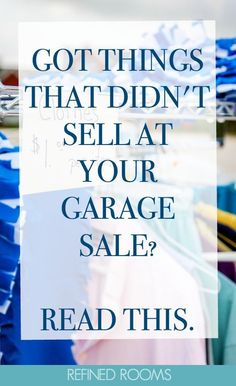 Wondering what to do with all that stuff that didn't sell at your garage sale? I'm sharing some great online resources for garage sale donations that you'll definitely want to check out! Small Bathroom Organization, Home Organization Hacks, Paper Organization, Declutter Home, Organizing Your Home, Organizing Tips, Decluttering, Garage Sale Tips, Getting Organized At Home