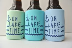Hey, I found this really awesome Etsy listing at https://www.etsy.com/listing/192429545/on-lake-time-nautical-beer-koozies-can