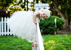 Ivory Flower girl dress Lace and ivory flower by GlitterMeBaby, $70.00