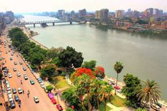 Cornisch nile... mansoura city . Nile delta egypt