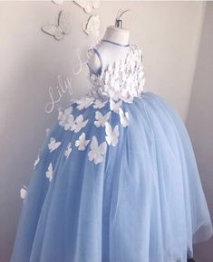 flower girl dress Butterfly blue girl dress dress with butterfly birthday dress personalized dress baby dress butterfly tutu tulle dress - Ukraine Flowers Delivery Girls Blue Dress, Gowns For Girls, Little Girl Dresses, Pink Dress, Girls Dresses, Toddler Pageant Dresses, Beauty Pageant Dresses, Pageant Gowns, Flower Girl Gown