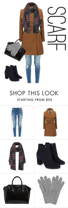 """""""Winter Scarf Look"""" by sydneyystapleyy ❤ liked on Polyvore featuring Ted Baker, Topshop, Monsoon, Givenchy and L.K.Bennett"""