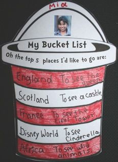"Dr. Seuss activities:  FREE Dr. Seuss ""Bucket List"" writing prompt craft. Based on Seuss's book Oh The Places You'll Go."