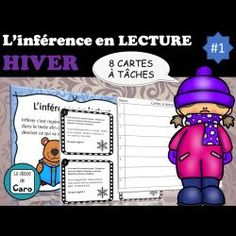 L'inférence en lecture - HIVER - Cartes à tâches French Teacher, Teaching French, Teacher Helper, Core French, French Classroom, Second Language, Learning Games, Learn French, Boutique